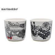 【マリメッコ】  68703 193 ヴェルイェクセトゥ コーヒーカップ セット 200ml ホワイト/ブラック/レッド