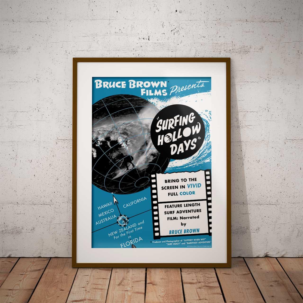 【ブルース・ブラウンフィルム】A3ポスター・Surfing Hollow Days (サーフィンホローデイズ)