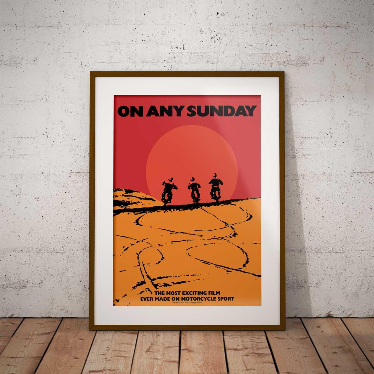 【ブルース・ブラウンフィルム】A3ポスター・On Any Sunday(オン・エニー・サンデイ)・サン