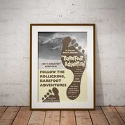 【ブルース・ブラウンフィルム】A3ポスター・Barefoot Adventure (ベアフットアドベンチャー)