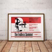 【ブルース・ブラウンフィルム】A3ポスター・The Endless Summer (エンドレスサマー)・レッド
