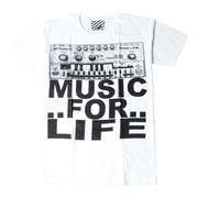 プリントTシャツ Music For Life メンズ/レディース/半袖/おもしろ/おしゃれ