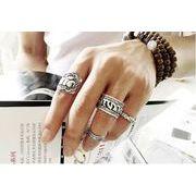 メンズファッションリング 指輪 輪 4セット カジュアル 男女兼用 かっこいい