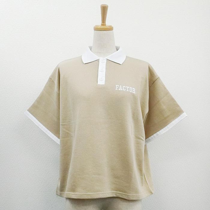【2018春夏新作】ミニ裏毛 ポロシャツ(刺繍)