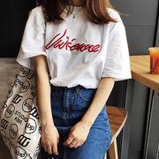 初回送料無料 2018混ざる 刺繍 半袖 Tシャツ 全3色 Mjsmn-1801bd59 春冬 新作
