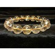 【現品一点物】 オレンジルチルブレスレット 金針水晶数珠 13-14ミリ 53g お試し現品価格 O
