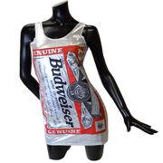 Budweiser バドガール クルーネックワンピース【シルバーラメ】
