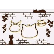 【オリジナル企画商品】猫雑貨 猫チャーム 猫レジン空枠 レジンフレーム