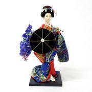 <和雑貨・人形>伝統工芸 着物 9インチ みやび人形 日本人形 藤娘 No.303-026