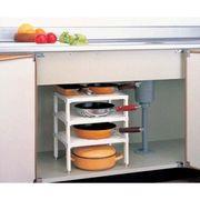 【棚板の高さも調整できる!】キッチン3段フリーラック