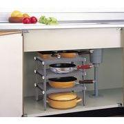 【無駄なスペースも有効活用♪】キッチン3段フリーラック