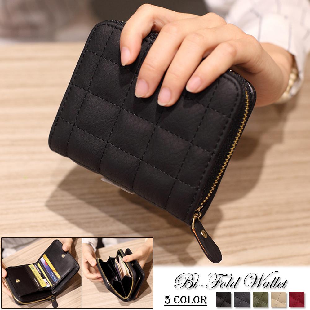 小さい財布 レディース 二つ折り コンパクト ミニ財布 ラウンドファスナー