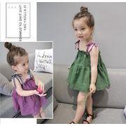【業界最安値・値下げ】夏 子供服 キッズ 女の子 ベストワンピース キャミ ノースリーブ