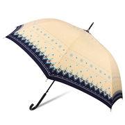 [60cm]耐風傘 婦人 傘 ジャンプ傘 レディース ダイヤレース柄