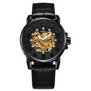 送料無料 OB メンズ スケルトン ビジネス 自動巻き 腕時計 ob-10