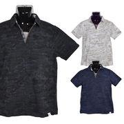 【2018春夏新作】カノコ カモフラプリント スキッパー ポロシャツ【割引対象外】