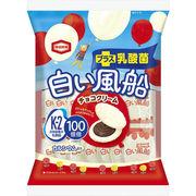 【ケース販売】白い風船チョコクリーム 18枚×12
