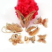 立体的なチャーム ゴールド メタル 蝶々/リボン/トンボ/お花など ネイルパーツ ピアス用品 アクセサリー