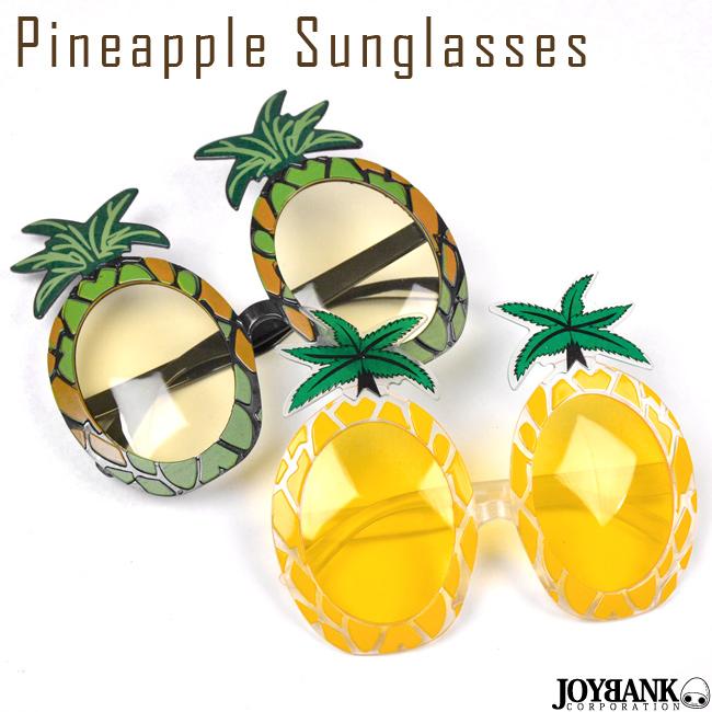 パイナップルサングラス 2color【おもしろ眼鏡/デザインめがね/夏/リゾート/フェス】