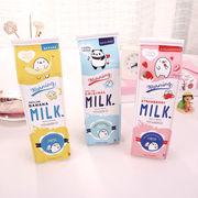 格安☆INS人気文具◆収納ケース◆筆箱◆筆入れ◆ペンケース◆ピンキーカラー◆大容量◆ミルク