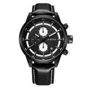 ost メンズ 夜光 クロノグラフ カレンダー腕時計 st-76