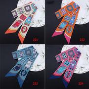 221-260 スカーフ パターンスカーフ ツイリー リボンスカーフ 女性