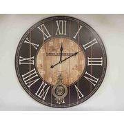 掛時計・ブラック・58φcm