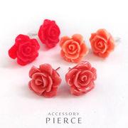 ☆30%オフ☆【数量限定】在庫限りのスペシャル価格です★ ローズ(薔薇)フラワーピアス