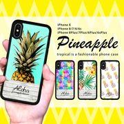 耐衝撃 iPhone ケース iPhone8ケース スマホケース トロピカル パイナップル アロハ ロゴ ブランド
