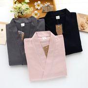 メンズ  パジャマ セットアップ ルームウエア 和風 和服 浴衣 部屋着 カップル 男女兼用 ガーゼ 全3色