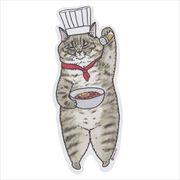 《コレクション》世にも不思議な猫世界 クロス素材ステッカー/春男 KORIRI