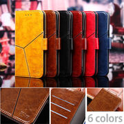 新作ヴィンテージ感あるムラ染め風 シックな手帳型 iPhoneX 8~6 8~6plus  スタンド機能 カード収納 6色