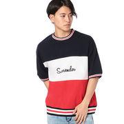 【2018春夏新作】20/-OE天竺 半袖 ラインリブ Tシャツ(Surrender)