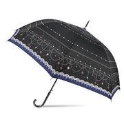 [60cm]耐風傘 婦人 傘 ジャンプ傘 レディース スタージュエリー柄