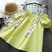 女児 シャツ 夏服 新しいデザイン 洋室 ファッション シャツ 韓国風 単一色 フリル