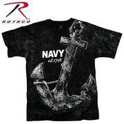ROTHCO ロスコ ビンテージ・グラフィックプリント Tシャツ ネイビー・アンカー USA アメリカ直輸入