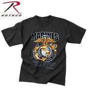 ROTHCO ロスコ グラフィックプリント Tシャツ ブラックインクマリーンズ  USA アメリカ直輸入