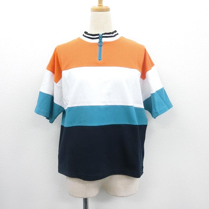 【2018春夏新作】20/-天竺 配色ハーフジップTシャツ