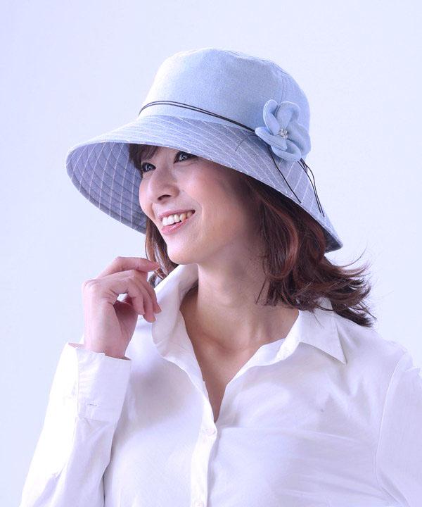 【即納】花モチーフ日よけ帽子