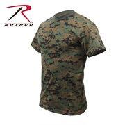 ROTHCO ロスコ 迷彩柄 半袖 Tシャツ ウッドランドカモフラージュ柄 USA アメリカ直輸入 ミリタリーTシャツ