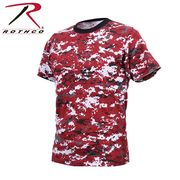 ROTHCO ロスコ 迷彩柄 半袖 Tシャツ レッド・カモフラージュ柄 USA アメリカ直輸入 ミリタリーTシャツ