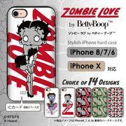 iPhone 7 8 X スマホケース icカード 収納 ハードケース ゾンビ ベティー ブープ(TM) ベティーちゃん ×10