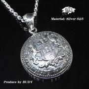 シルバー925 :紋章モチーフのメダル型ペンダントトップ