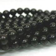 連 モリオン(黒水晶)AAA チベット産  丸 10mm    品番: 6061