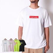 【2018SS新作】 メンズ BOXロゴ刺繍 Tシャツ