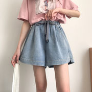 Rinaシリーズ 夏 新しいデザイン 女性服 韓国風 ゴム入りのウエスト 引きひも アン