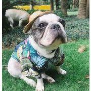 犬服 夏 シャツ ビーチ 2色 可愛い ペットウエア ペット服 ハワイ風
