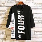 春夏新作メンズTシャツ 半袖トップス おしゃれ 大きいサイズ♪ブラック