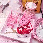 格安☆INS雑貨◆乙女系◆女子力アップ小物▲テーブル置物▲部屋装飾▲ショッピング カート▲人形屋飾り