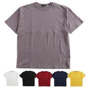 【2018SS新作】メンズ 無地 ビッグフットボール Tシャツ